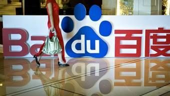 """Das chinesische """"Google"""":  Baidu will mit Toyota und dem chinesischen Autokonzern Geely selbstfahrende Autos auf die Strasse bringen. (Archivbild)"""