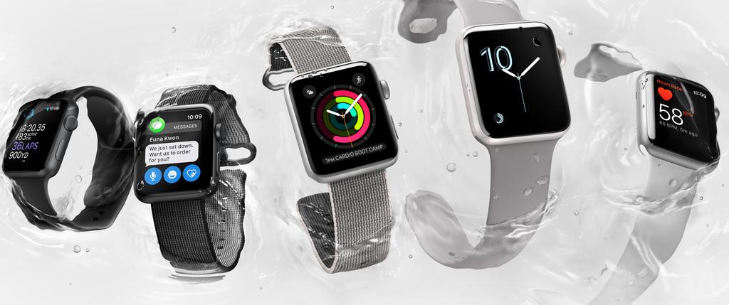 Die Apple Watch Series 2 ist wie die neuen iPhones wasserdicht und hat nun ein eingebautes GPS.