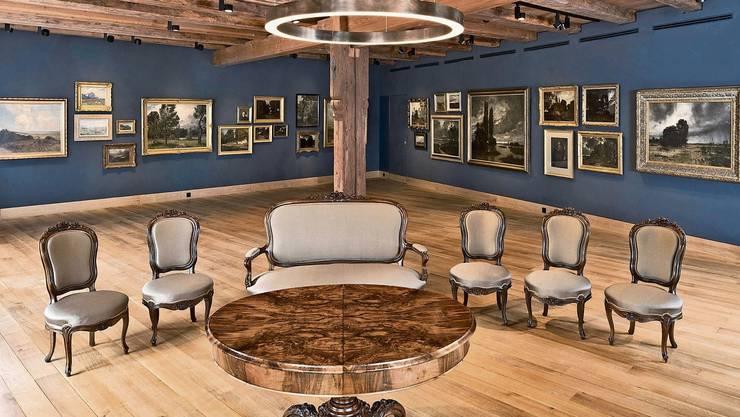 Der Stäblisaal mit Gemälden Adolf Stäblis: Wer hier heiraten will, muss sich bis Juli gedulden.