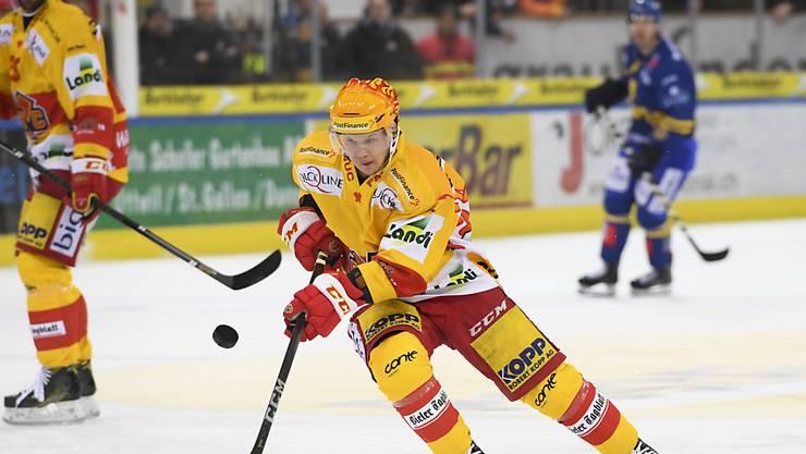 Der Finne Toni Rajala trägt seit der Saison 2016/17 die Klubfarben des EHC Biel