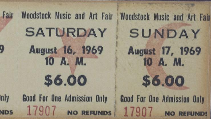 <p>Das waren noch Preise – Original-Tickets fürs Woodstock-Festival</p>