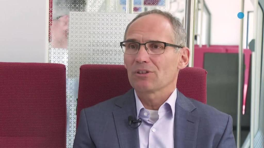 Thumb for ‹im Zug mit ... Direktor der Appenzeller Bahnen Thomas Baumgartner›
