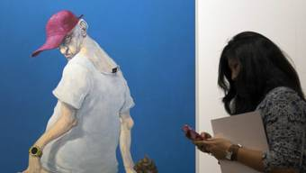 Werk des dänischen Malers Michael Kvium an der Art Basel