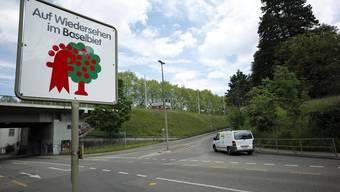 Blick auf den zukünftigen Margarethenstich von Binningen her.