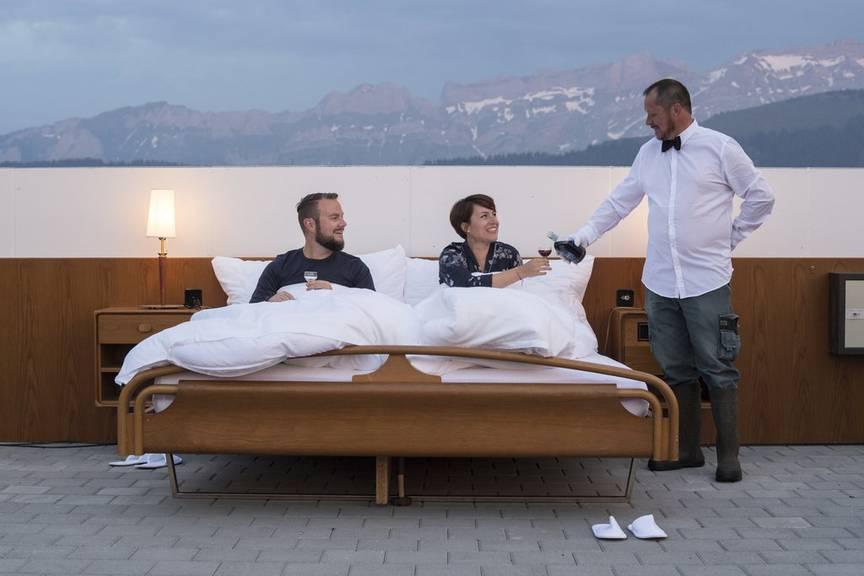 Das Null-Stern-Hotel in Gonten (Bild: Keystone/Ennio Leanza)