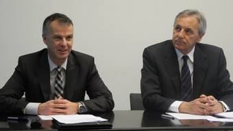 RegioBank CEO Markus Boss (links) mit Verwaltungsratspräsident Felix Leuenberger