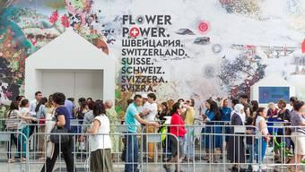 Der Schweizer Pavillon an der Expo in Astana. Diese ist nach rund drei Monaten zu Ende gegangen. (Archiv)