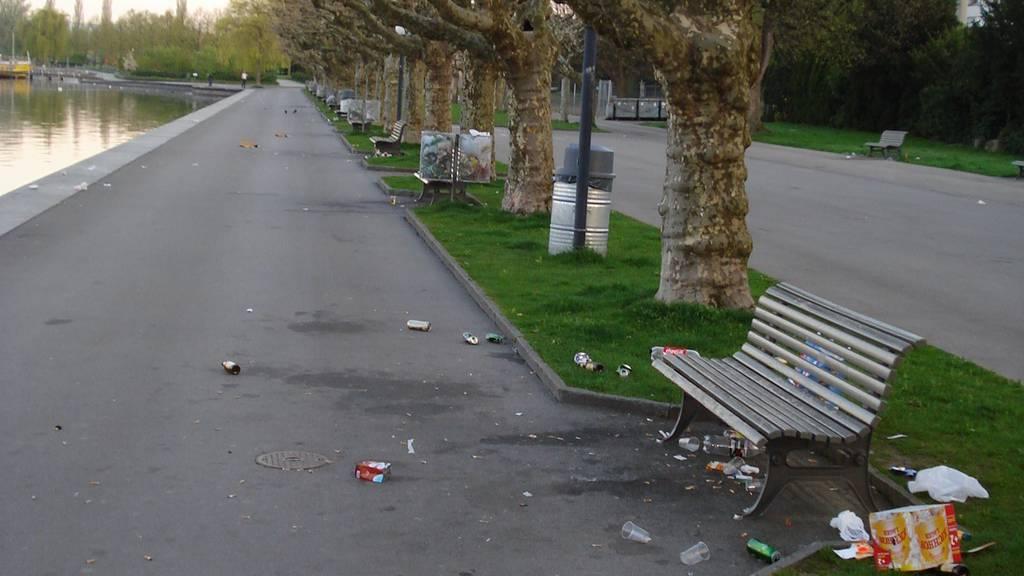Stadt Zug setzt Zeichen gegen Littering