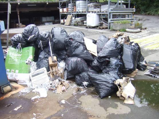 Die Stadt Liestal hat den Abfall eingesammelt und fachgerecht entsorgt.