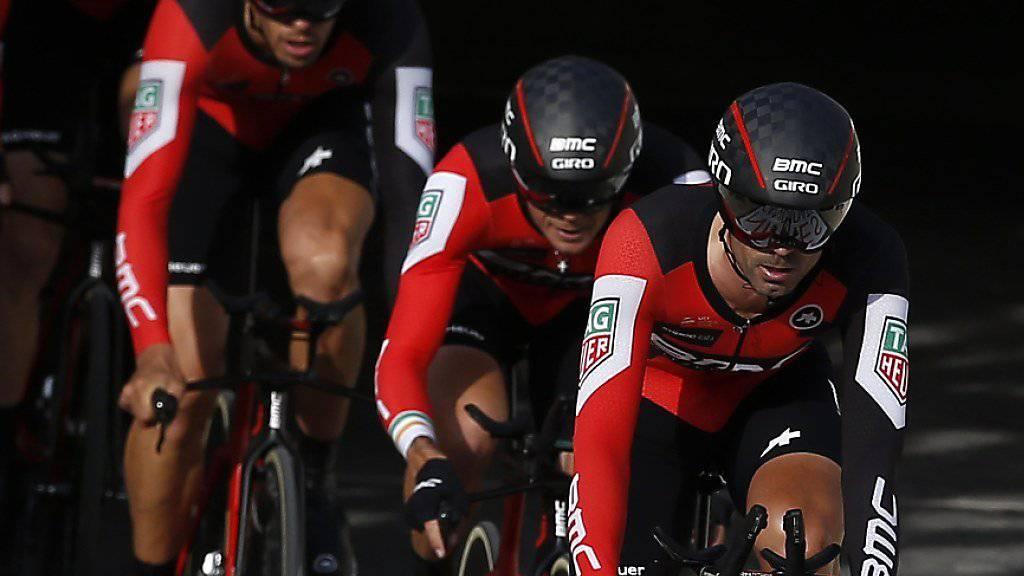Das amerikanisch-schweizerische Team BMC gehört beim Mannschaftszeitfahren in Frauenfeld zu den ersten Anwärtern auf den Sieg