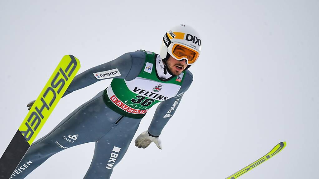 Der Schweizer Trumpf Killian Peier büsst immer noch einiges auf die Besten ein.