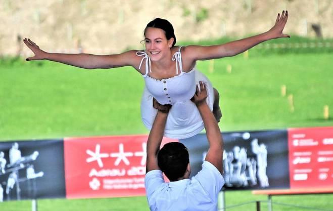 Die Gymnastik-Präsentationen bieten viel Eleganz.