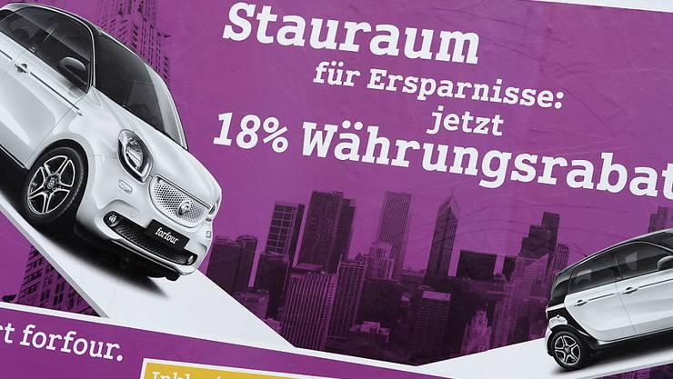 Kurz vor dem Autosalon in Genf gewähren deutsche Autoproduzenten grosse Rabatte. (Symbolbild)