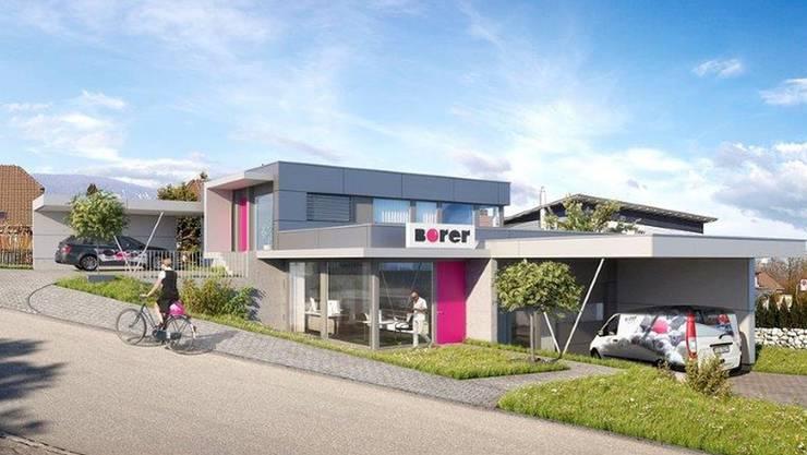 Der geplante Neubau der Firma Borer Werbung in Bellach.
