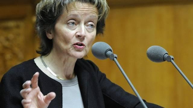 Finanzministerin Eveline Widmer-Schlumpf sieht keinen Handlungsbedarf