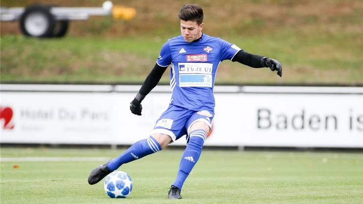 Nicholas Ammeter absolvierte die vergangene Saison in der 1. Liga beim FC Baden