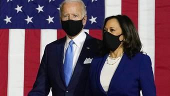 Erster Auftritt als «Team»: Joe Biden (links) und Kamala Harris.