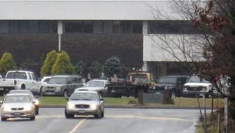 Blick auf das Schulgebäude in Monroe