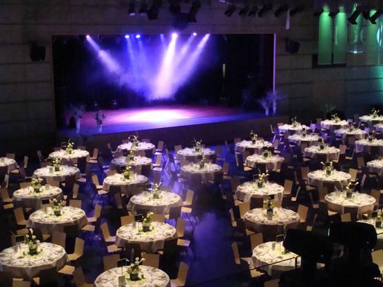 Die Eventhalle vor einem Konzert.