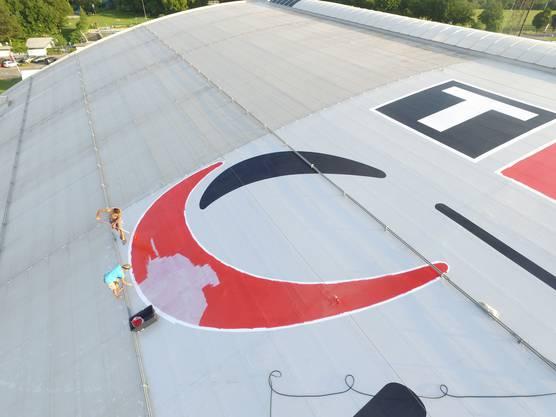 Der Chef der Firma T-Rex hat die Arbeiten seines Teams mit einer Drohne festgehalten.