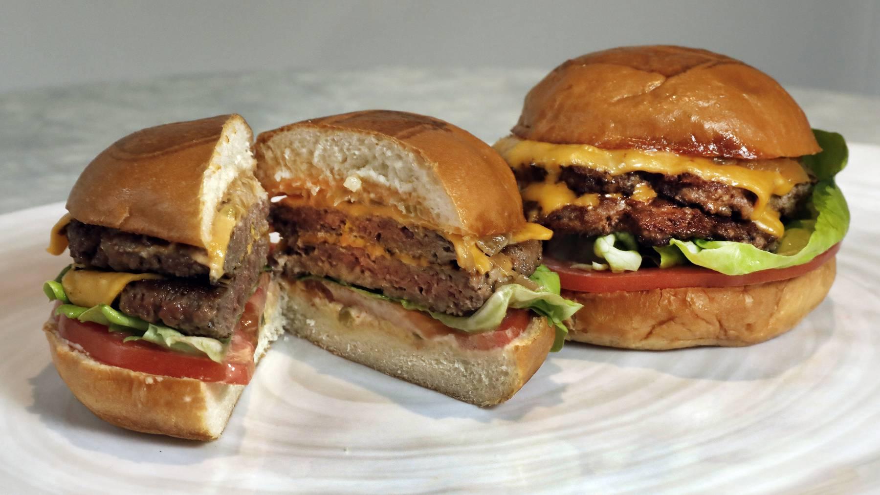 Vegane Burger der Marke Impossible Foods, die in der Schweiz nicht zugelassen sind.