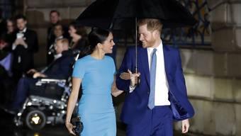 Prinz Harry und Herzogin Meghan bei ihrem Auftritt am Donnerstag.