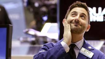 Ein Händler an der NYSE freut sich (Archiv)
