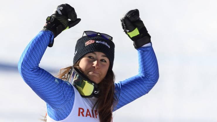 Strahlende Siegerin: Sofia Goggia.