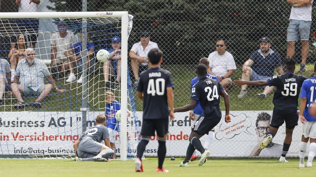 Die Grasshoppers liessen dem FC Widnau kaum eine Chance.