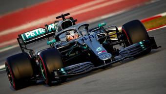 Der Mann, den es zu schlagen gilt: Lewis Hamilton im Mercedes ist WM-Topfavorit.