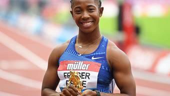 Shelly-Ann Fraser-Pryce feierte über 100 m in London einen überlegenen Sieg und blieb mit 10,78 Sekunden nur fünf Hundertstel über der Jahresweltbestzeit