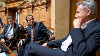 Die Allianzen wechseln je nach Geschäft: SVP-Präsident Albert Rösti, CVP-Präsident Gerhard Pfister, SVP-Fraktionschef Adrian Amstutz (von links).