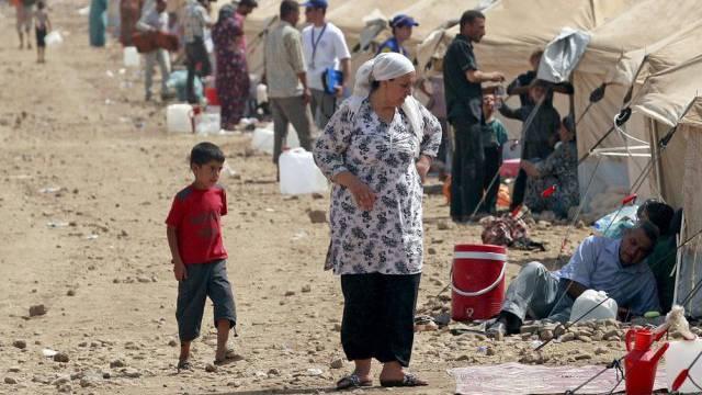 Syrische Flüchtlinge in einem Camp im irakischen Irbil (Archiv)