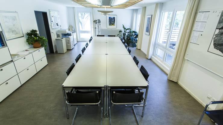 Genug Platz für die vorläufig letzte Sitzung des Gemeinderates in Lüsslingen-Nennigkofen.