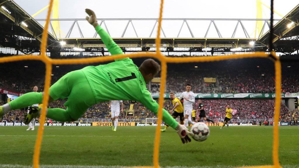 Eines von 973 Toren in der abgelaufenen Bundesliga-Saison: Borussia Dortmund trifft gegen Fortuna Düsseldorf