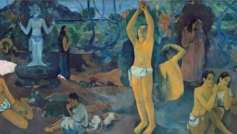Das Bild «Woher kommen wir? Wer sind wir? Wohin gehen wir?» malte Paul Gauguin in grosser Verzweiflung. Es zeigt den Lebensbogen von der Geburt bis zum Tod. Fondation Beyeler