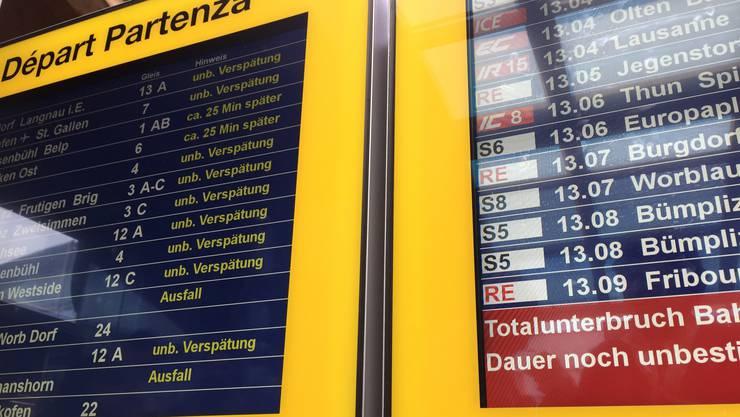 Verspätungen und Zugausfälle haben sich in den letzten Wochen stark gehäuft.