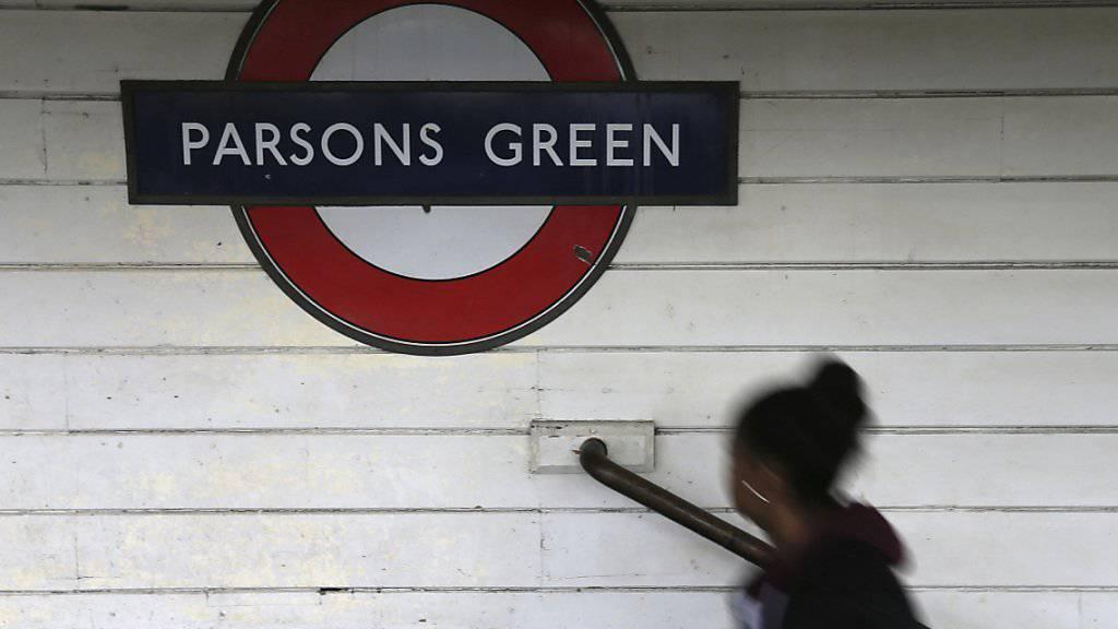Der Tatort des Anschlags, die U-Bahnstation Parsons Green, war am Samstag wieder geöffnet