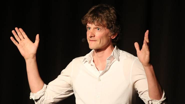 Scharfsinnig und wortgewaltig präsentierte sich Casting-Gewinner Christoph Simon.