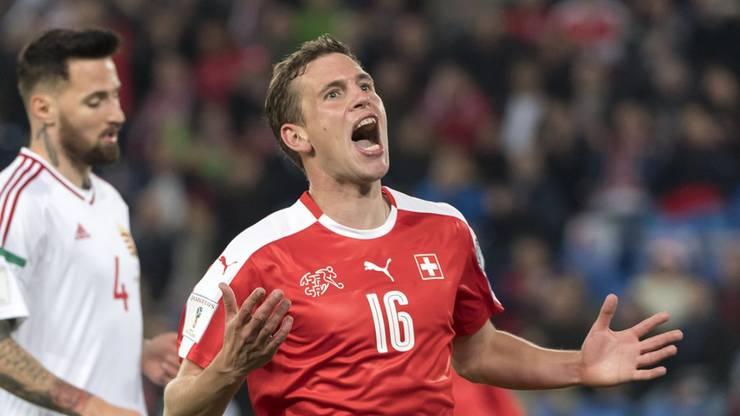 Fabian Frei jubelte über seinen Treffer gegen Ungarn