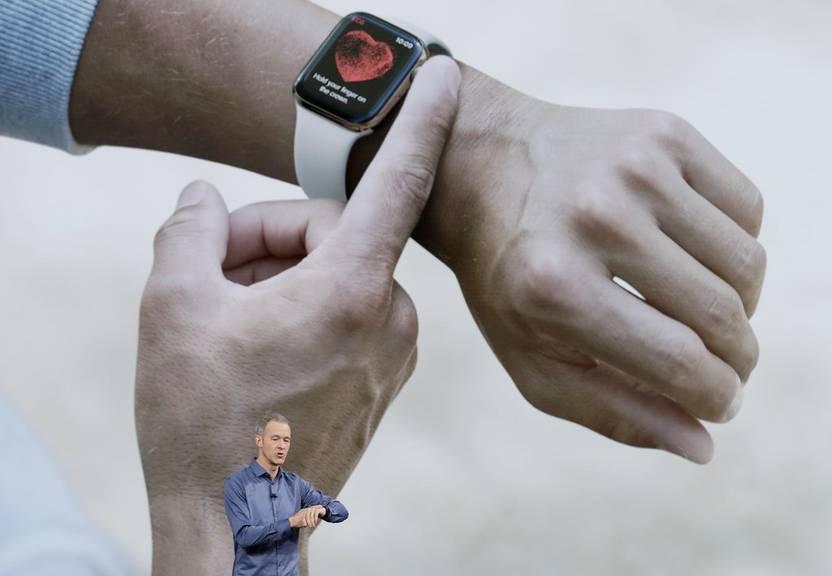 Die Apple Watch Series 4 hat ein schmaleres Armband, als ihre Vorgänger. (Bild: keystone)