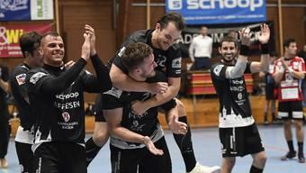 Erneuter Sieg trotz Doppelbelastung in der englischen Woche: Gegen die SG GS/Kadetten Espoirs erreicht der STV Baden einen verdienten 29:27-Sieg.