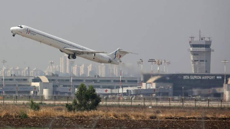 Der Flughafen Ben Gurion von Tel Aviv, Israel.