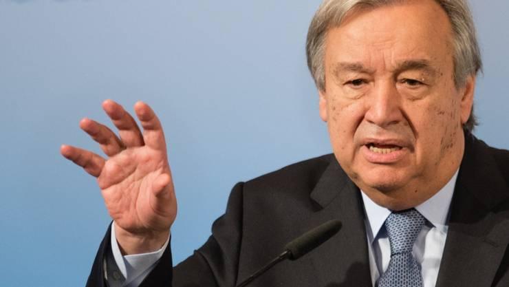 ARCHIV - UN-Generalsekretär António Guterres fordert Baku und Eriwan zu einem sofortigen Ende der Kämpfe und der unverzüglichen Rückkehr zu Verhandlungen auf. Foto: Matthias Balk/dpa