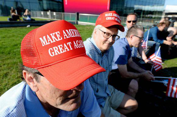 Eine Baseball-Mütze als Symbol: Make America Great Again.