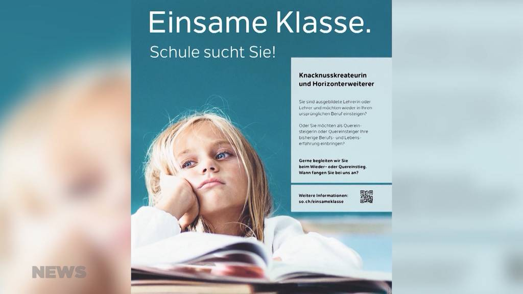 Solothurn will mit Kampagne Lehrpersonen gewinnen