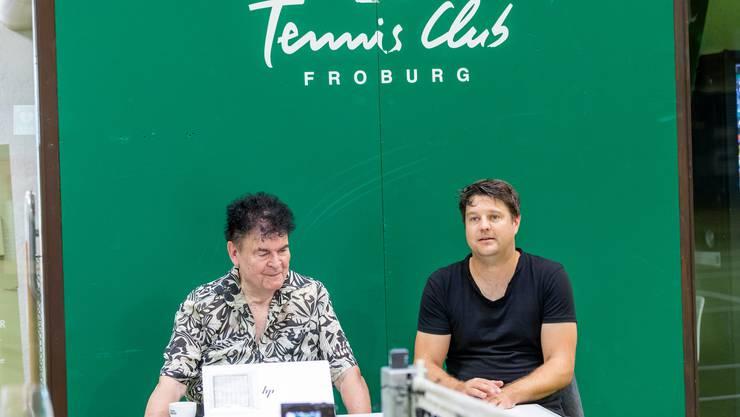 Der umstrittene HCD-Sponsor Peter Buser aus Trimbach mit Froburg-Clubpräsident Marco Meyer.