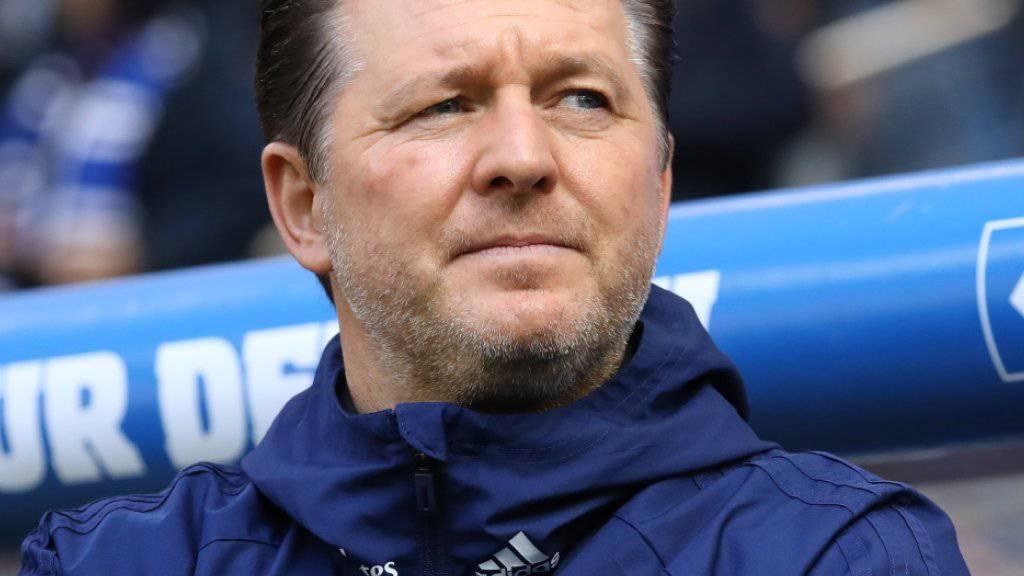 Muss seinen Posten als Cheftrainer beim Hamburger SV räumen: Christian Titz