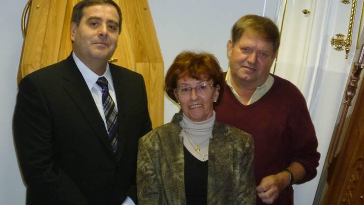 Von links nach rechts: Hans Gerber, Renate Pozvek, Alois Pozvek.