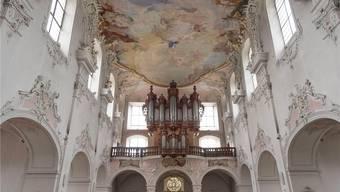 Die restaurierten Deckengemälde des Arlesheimer Doms.